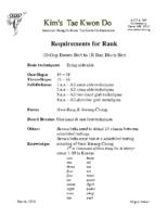 Brown/Black Belt Rank Packet