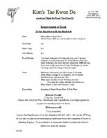 2D Black Belt Rank Requirements